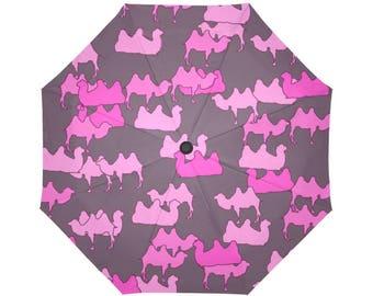 Pink Camelflage, Camo, Camouflage, Auto - Foldable Umbrella, Rain gear, Cool Umbrella's,  fun umbrellas