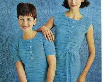 Vintage Crochet Dress Pattern- PDF
