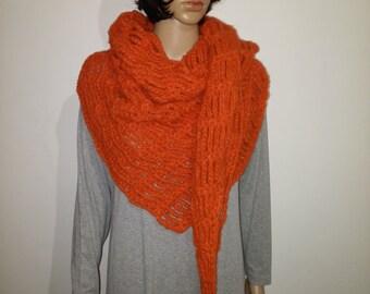 Orange crochet stoles