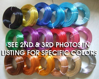 12 Gauge Anodized Aluminum Wire Beading Wire 39 Feet 12 Gauge Bead Wire Jewelry Wire Craft Wire - You choose the color