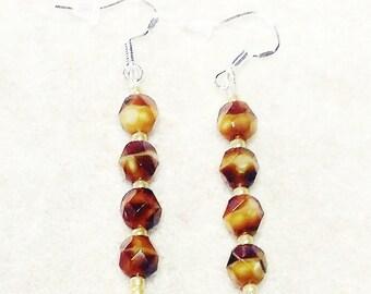 Lightweight Dangle Earrings with Sterling Silver Hooks