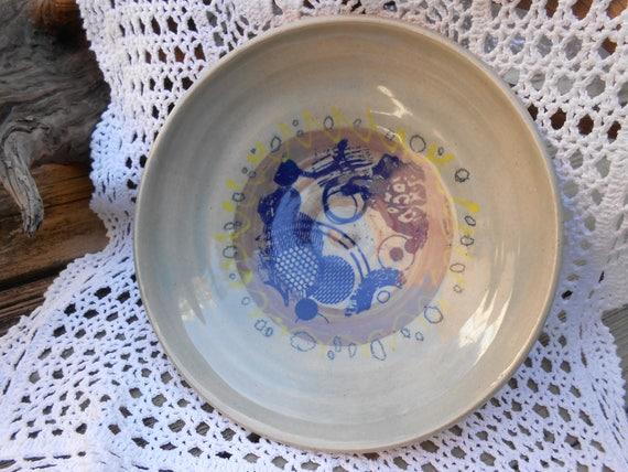 Circles on Circles Thrown Ceramic Pottery Bowl