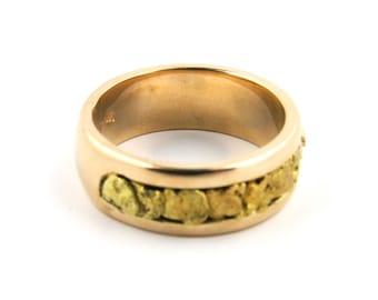 14K Rose Gold Yukon Gold Nugget Wedding Band // Mark Castagnoli MC (IUI)