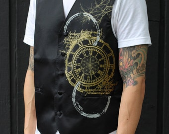 Sacred Geometry Clothing - Steam Punk - Screen Print Mens Vest