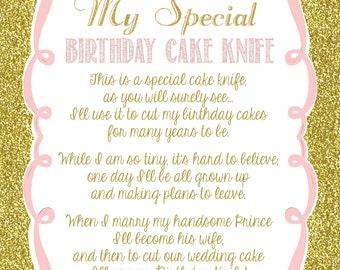 Cake Knife Poem For Baby