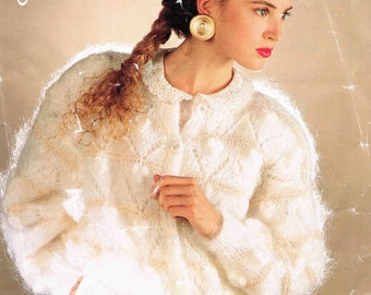 Lady's Cardigan Jacket - Size 76 to 107 cm (30 to 42 inches) - Robin Dynasty 14868 - Vintage Knitting Pattern