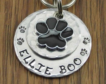 "Dog Id Tag, Dog Tags, Dog Name Tags, Dog Collar Tags, Personalized Dog Tags, Pet ID Tags, Pet Tags, Dog Supplies (1.25"" Aluminum)"