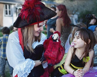 Invite a REAL Pirate to the party to entertain the children!