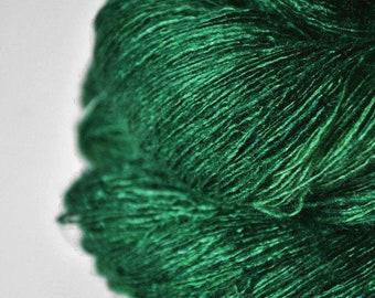 Whispering meadow spirit OOAK - Tussah Silk Lace Yarn - Hand Dyed Yarn - handgefärbte Wolle - DyeForYarn