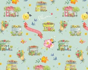 Columbia Road Grey - Chelsea Market - Brenda Walton - Blend Fabric 100% Quilters Cotton 123.104.02.2