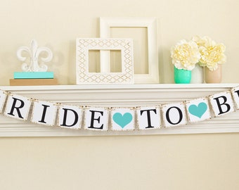 Bride To Be Banner - Bridal Shower Decorations - Bridal Shower Banners - Bachelorette Party - Blue Bridal Shower Decorations