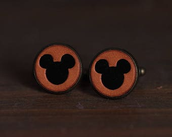 Men's cufflinks - Vintage Style Cufflinks - Mickey Mouse Cufflinks with a gift box