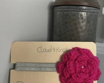 Crochet Flower Headband 0-3m