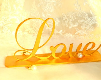Love Sign Freestanding Table Sign Wedding Word Wedding Decor Bedroom Decor Rustic Wedding Decor Wall Wood Decor Housewarming