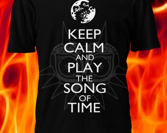 Keep Calm and Play the Song of Time Tshirt - Legend of Zelda Majora's Mask
