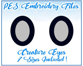 PES Creature Eyes embroidery files Instant Download- more formats available!