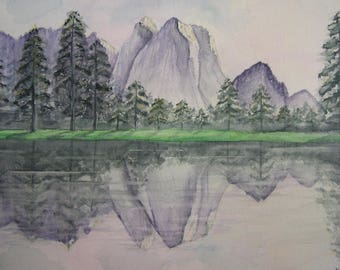 Yosemite Park watercolor