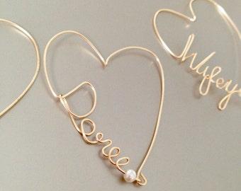 Wine charm, Personalized Charm, Custom Wine Charms, Heart Wine Charm, Wedding Favor, Bridal Party Favor.