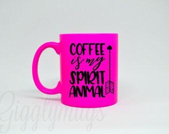 Coffee is my spirit animal funny coffee mug/spirit animal coffee mug/Mugs with sayings/Birthday Gift/Christmas Gift/I love coffee Mug