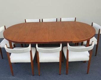 KAI KRISTIANSEN Rosewood Dining Set Danish Modern Mid Century Modern  Furniture 1 Rosewood Dining Table 2