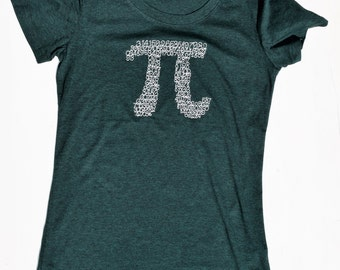 Teacher Shirt, Pi Shirt, Mathematics, Science, Math Teacher Gift, Embroidered, Teacher Shirts
