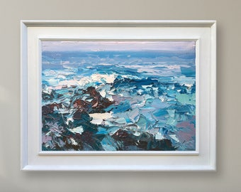 Abstract Painting Ocean Painting Abstract Oil Painting Original Painting Abstract Canvas Art Sea Painting Abstract Art  Abstract Wall Art