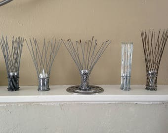 Tealight Holders created with upycled bike parts.. Free Shipping on purchase of two or more