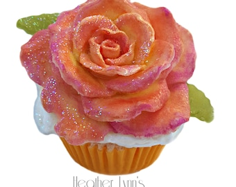 Apricot Freesia Bath Bomb Cupcake- Cupcake Bath Bomb- Bath Bomb- Bath Fizzy- Whipped Soap Frosting- Artisan Soap- Gift For Her- Bath Bombs