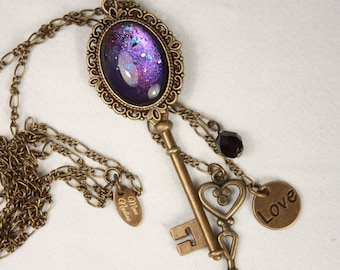 long necklace with key