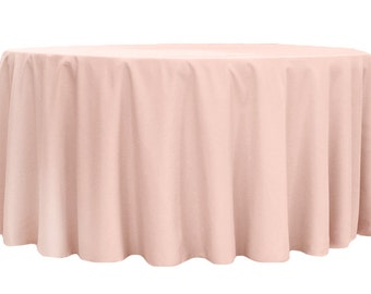 Blush Tablecloth Round Polyester | Wedding Tablecloth | Choose Size