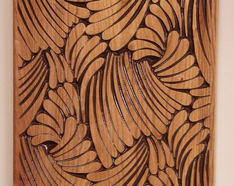 Wood Carving, Wall Art, Wall Decor, Wood Art, Wall Hanging, Carved