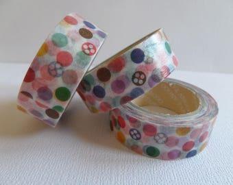 Washi tape pretty multicolor dots
