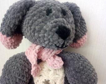 Nursery baby gift Crochet animal Plush dog Toy Ragdoll crochet dog stuffed animal crochet puppy stuffed dog puppy plush toy baby shower gift