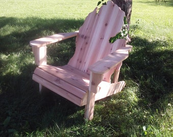 Ohio Adirondack Chair Handmade Wood Furniture Rustic Cedar