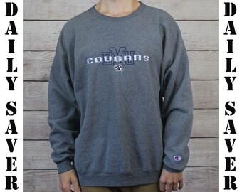BYU Cougars Champion Crewneck Sweatshirt Brigham Young University Vintage College Sweatshirt