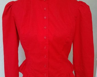Vibrant red blouse