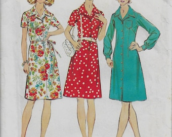 Simplicity 5579    Misses Vintage Button Front or Step-In Dress  Half Size   Size 24 1/2  Uncut