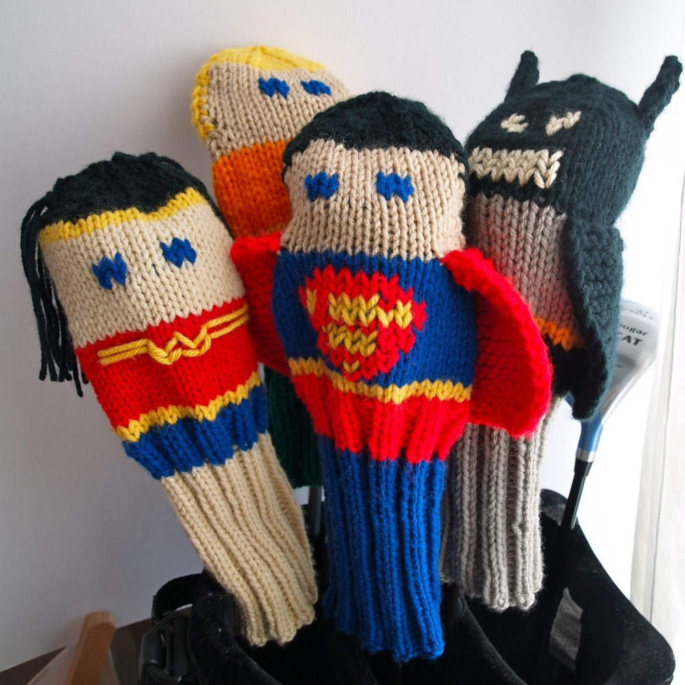 Knit PATTERN Justice League Golf Club Cover Collection PDF from ...