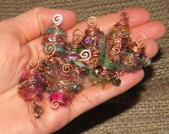 Dreadlock Bead Large Dread Beads Dread Wrap 8mm Dreadlock Jewelry Copper Wire Wrap Bohemian Crystal Hippie Hippy Festival Psy Boho Hair
