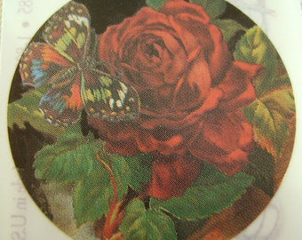 2 Sheets of 5 Images Pressure Sensitive Stickers Brier Rose Collection