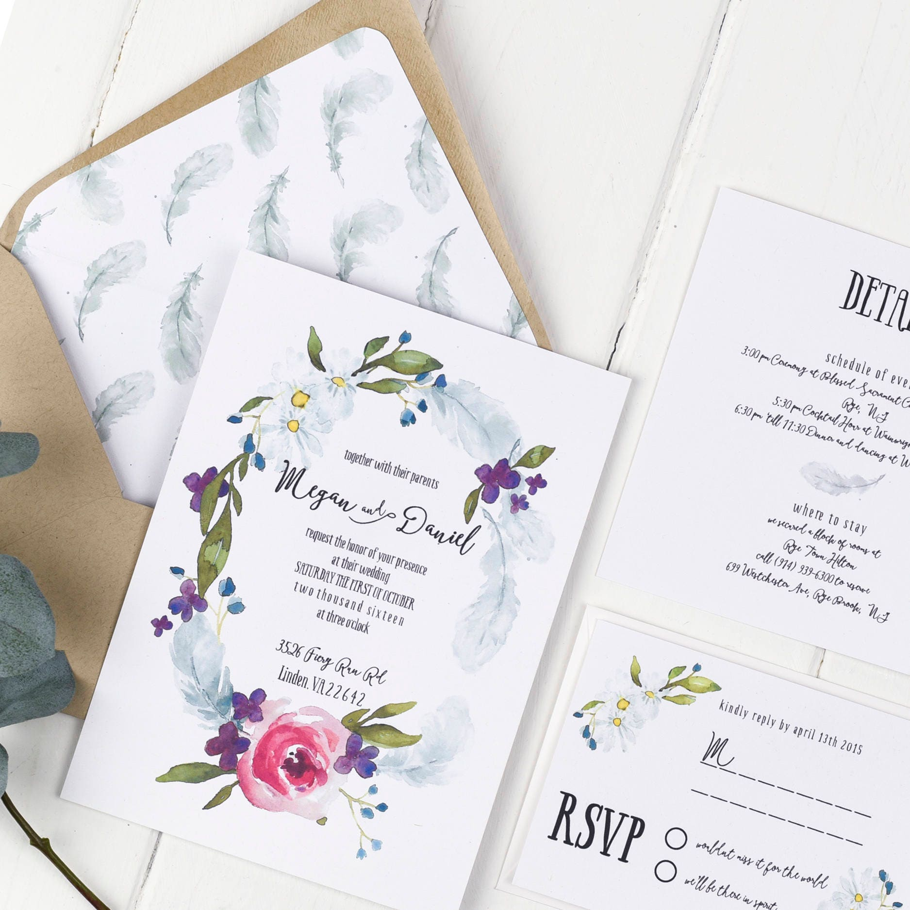 Bohemian Wedding Invitations: Boho Wedding Invitation Wedding Invitation Boho Bohemian