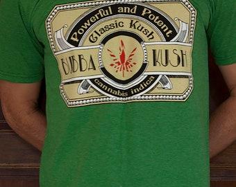 Bubba Kush Classic Indica Cannabis Strain T-shirt