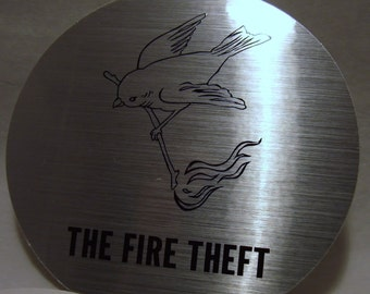 Rare The Fire Theft Foo Fighters Sticker Sunny Day Real Estate Metallic Sticker & Postcard