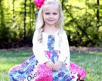 Carolina Kids Boutique Hearts Galore Spring Dress toddler girls