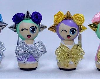 Kawaii Girl Gang Wooden Peg Doll