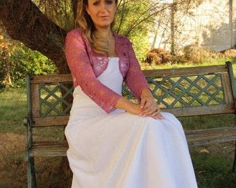 Bolero, bridal bolero pink, bridal bolero, jacket,