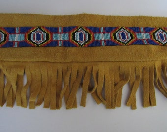 Flute or Pipe Leather Bag w/Fringe Tribal Pow Wow Rendezvous Native Inspired