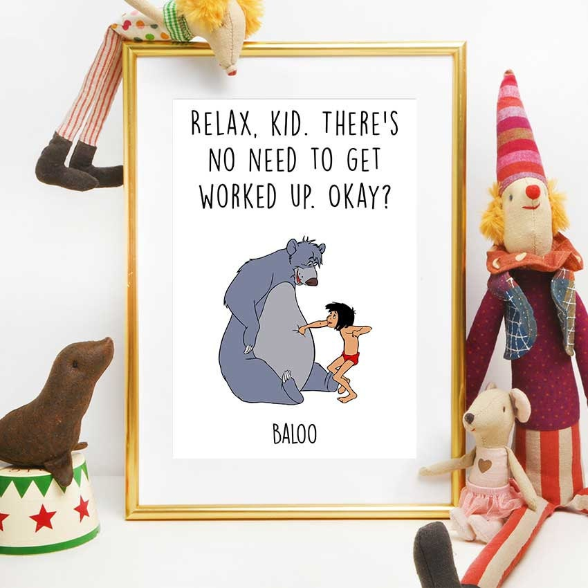 Jungle Book Quotes Fascinating Baloo And Mowgli Print Jungle Book Quote Disney Quotes