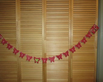 Butterfly Banner, Butterfly Birthday Banner, Girls Birthday Banner, Happy Birthday Butterfly Banner, Butterfly Birthday