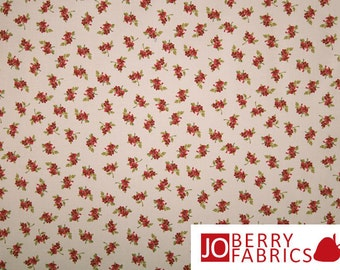 Red Floral Fabric, Victoria's Terrace by Choice, Quilt or Craft Fabric, Fabric by the Yard